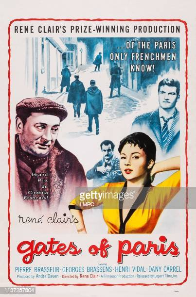 The Gates Of Paris poster US poster art Pierre Brasseur Georges Brassens Dany Carrel 1957