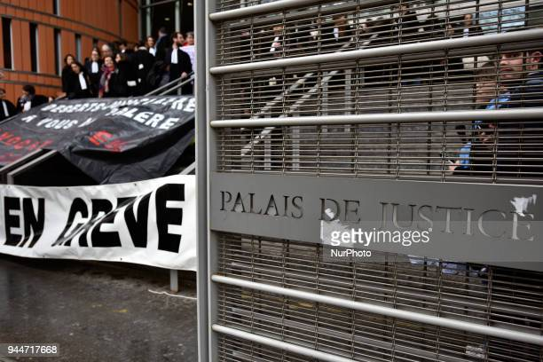 The gates of the court of instance of Toulouse The French Bar Association all lawyers' unions all magistrates' unions called all its members to be on...