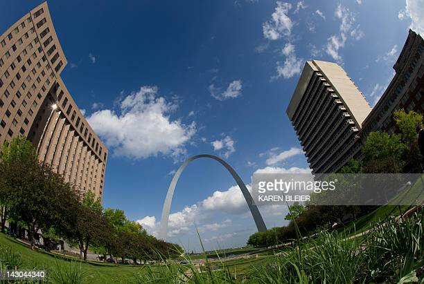 The Gateway Arch is seen in this April 14 2012 photo in St Louis Missouri on a sunny Sunday afternoon AFP PHOTO / Karen BLEIER