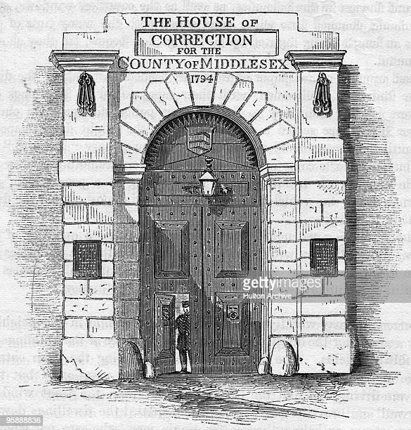 The gateway of Coldbath Fields Prison in London circa 1850 An engraving rom 'The Criminal Prisons of London' a compilation of articles entitled 'The...