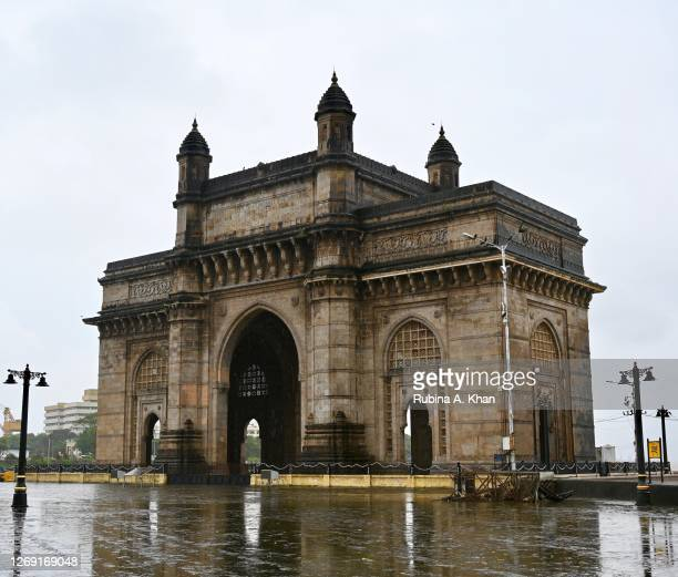 The Gateway of India on August 21, 2020 in Mumbai, India.