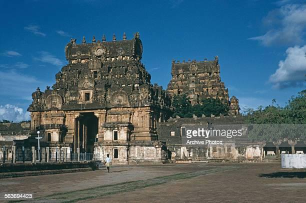 The gateway to the Brihadeeswarar Temple a Hindu temple to Shiva in Thanjavur Tamil Nadu India circa 1965