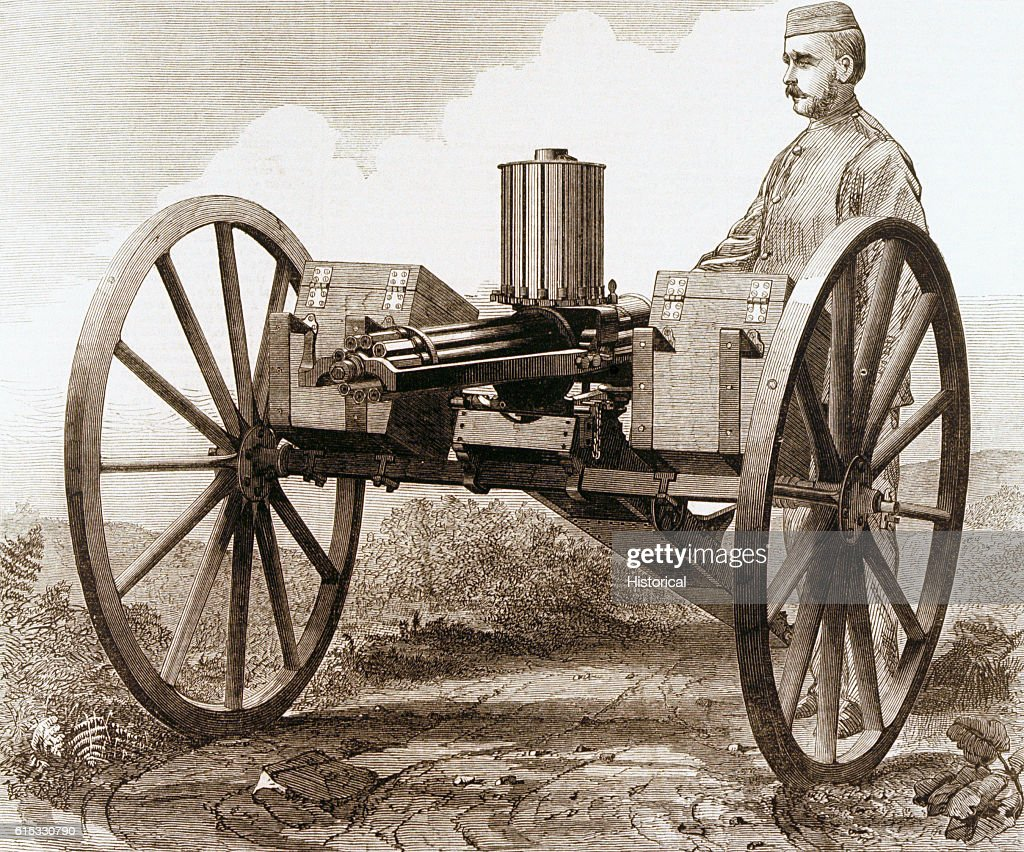 The Gatling gun was manufactured by Sir William Armstrong