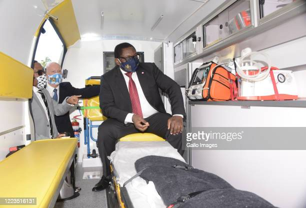 The Gauteng Premier David Makhura inspects the ambulance at the signing of Memorandum of Understanding with BMW that will unlock a multi-million-rand...