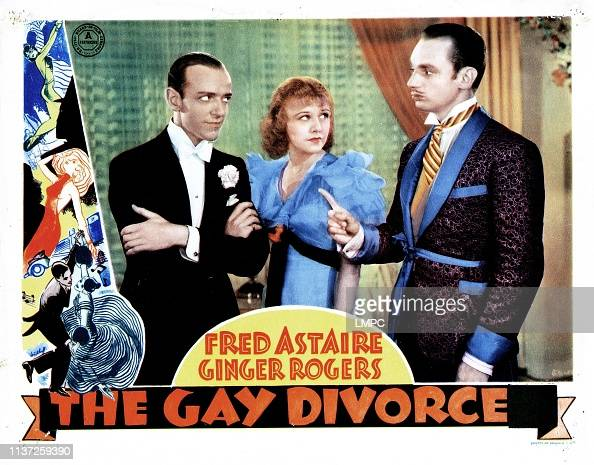 The Gay Divorcee, lobbycard, from left, Fred Astaire, Ginger