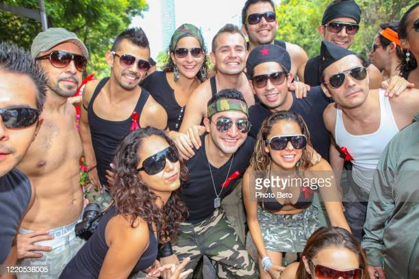 the gay pride parade on the streets of mexico city - gay men swimwear stock pictures, royalty-free photos & images