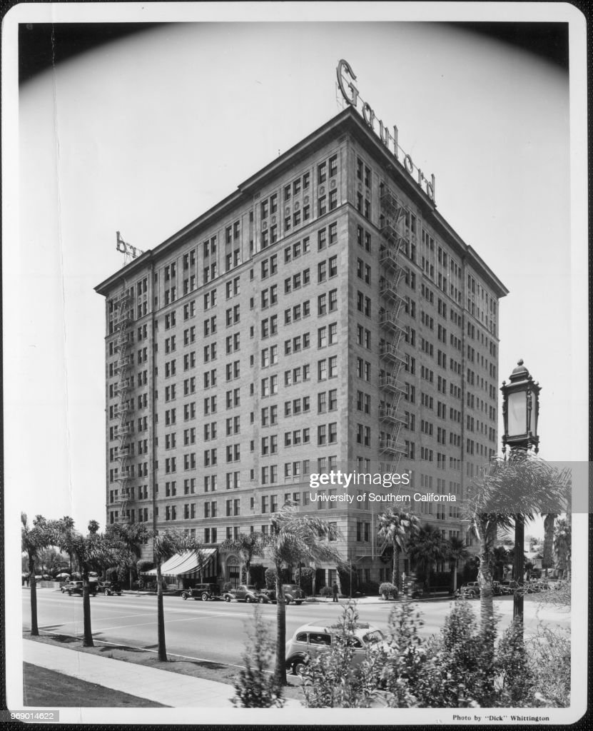 The Gaylord Apartments Hotel With Cars And Palm Trees In Front Of It Los  Angeles California