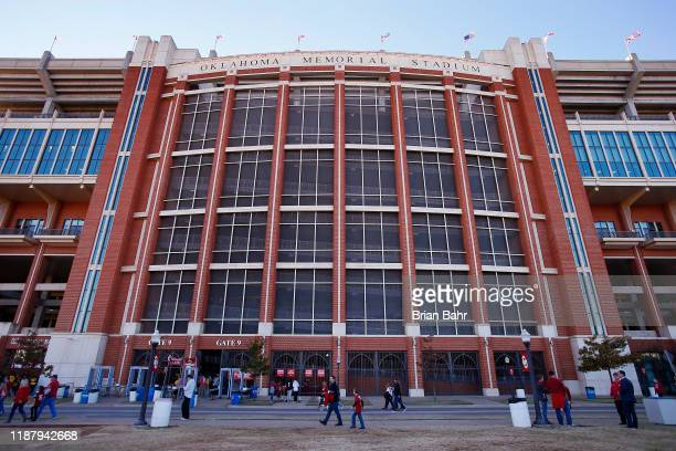 The Gaylord Family Oklahoma Memorial Stadium, home of the Oklahoma Sooners, is ready for a game against the Iowa State Cyclones on November 9, 2019...