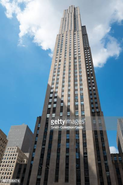 The GE building at 30 Rockefeller Plaza on a sunny day in Manhattan New York City New York September 15 2017
