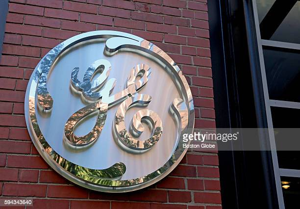 The GE logo adorns the front entrance General Electric has opened its new headquarters in Fort Point on Farnsworth Street in Boston Aug 22 2016