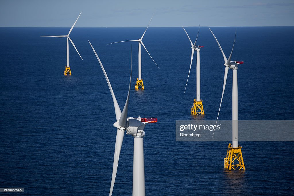 Views Of General Electric Co.'s First U.S. Offshore Wind Farm : News Photo