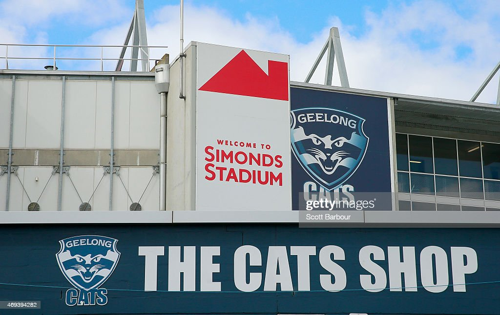 The Geelong Cats Logo Is Displayed Outside Of The Ground Before The News Photo Getty Images