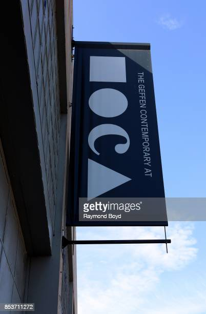 The Geffen Contemporary at MOCA's banner hangs outside The Geffen Contemporary at MOCA in Los Angeles California on September 10 2017