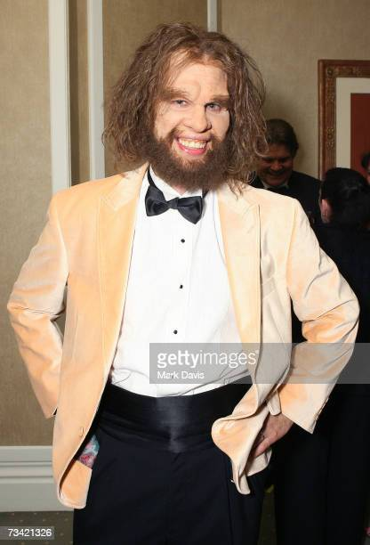 The GEICO Caveman arrives at the 17th Annual Night Of 100 Stars Oscar Gala held at the Beverly Hills Hotel on February 25 2007 in Beverly Hills...
