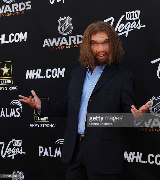 The Geico caveman arrives at the 2010 NHL Awards The Palms Casino Resort on June 23 2010 in Las Vegas Nevada