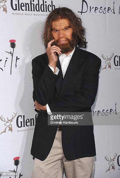 The GEICO Caveman attends the 7th annual Dressed To Kilt charity fashion show at M2 Lounge on March 30 2009 in New York City