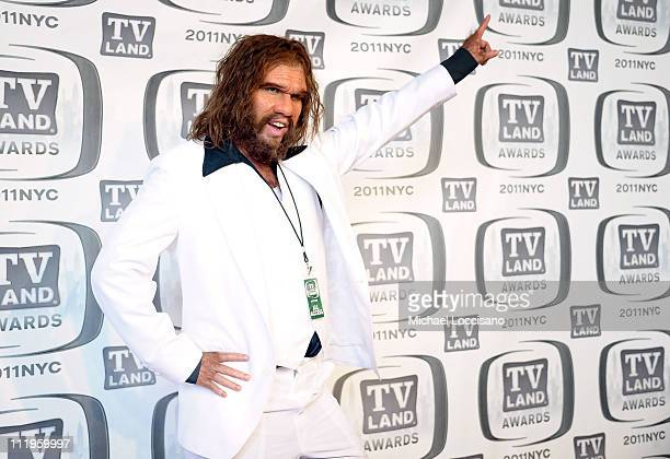 The Geico Caveman attends the 9th Annual TV Land Awards at the Javits Center on April 10 2011 in New York City