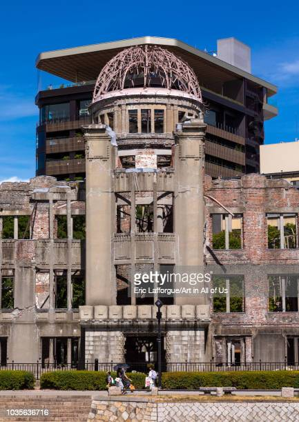 The Genbaku dome also known as the atomic bomb dome in Hiroshima peace memorial park Chugoku region Hiroshima Japan on August 13 2018 in Hiroshima...