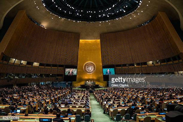 """The General Assembly paid a tribute to United Nations SecretaryGeneral Ban Kimoon for his """"nevertiring service to humanity"""" over the past decade..."""