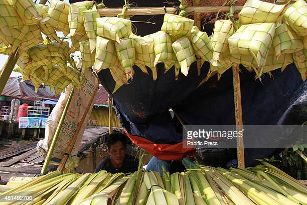 The general atmosphere of preparation for the feast of Eid in Pontianak West Kalimantan Indonesia The merchants are selling various accessories that...