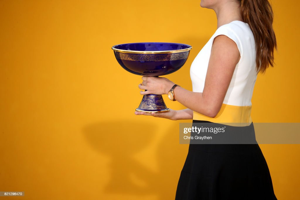 The general classification winner's trophy is carried to the stage after stage 21 of the 2017 Le Tour de France, a 103km stage from Montgreon to the Paris Champs-Élysées on July 23, 2017 in Paris, France.