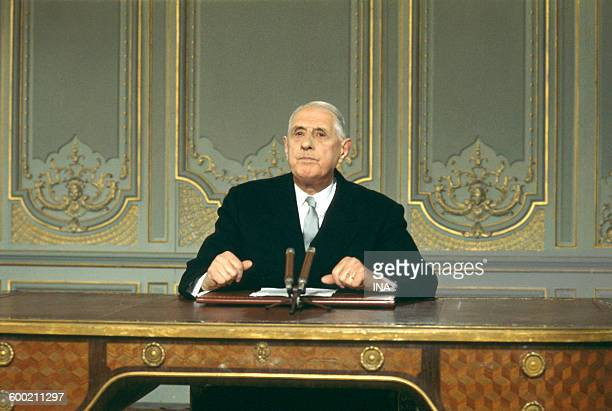 The general de Gaulle during his press conference of May 24th 1968