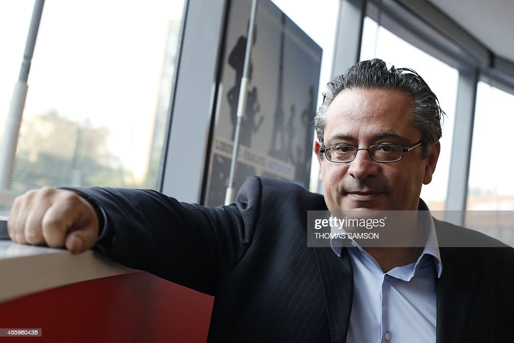 The General Director of France 24, Marc Saikali poses after the launch the channel France 24 on the TNT, at France 24 headquarters in Issy-les-Moulineaux, near Paris on September 23, 2014.