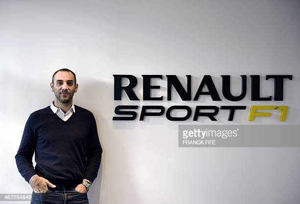 The general director of Renault Sport F1 Cyril Abiteboul poses on December 18 2014 in ViryChatillon south of Paris Abiteboul has said that the some...