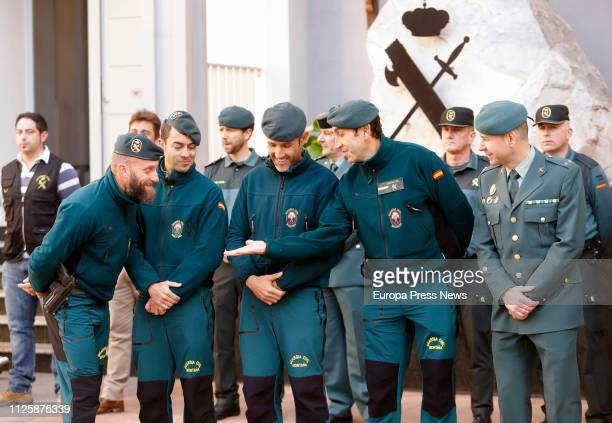 The general director of the Guardia Civil Felix Azon meets the civil guards who participated in the rescue of the body of Julen the 2 year old boy...