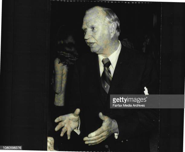 The General Manager of Qantas Capt. Bert Ritchie, pictures at Sydney airport on his return to Sydney from the international air transport association...