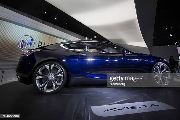 The General Motors Co Buick Avista concept vehicle sits on display during the 2016 North American International Auto Show in Detroit Michigan US on...