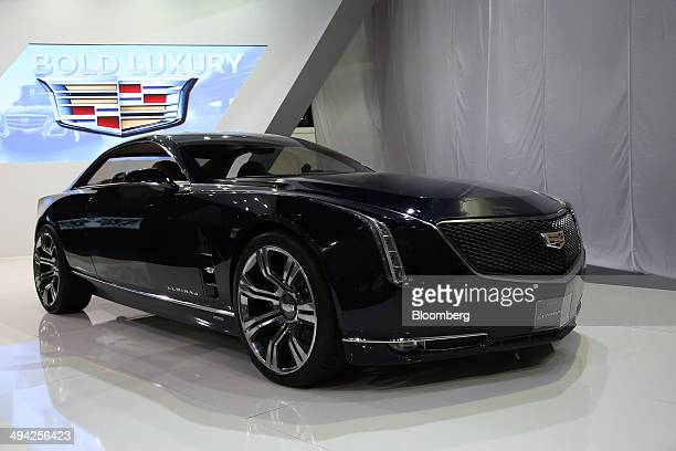 The General Motors Co Cadillac Elmiraj vehicle is displayed during the press day of the 2014 Busan International Motor Show in Busan South Korea on...