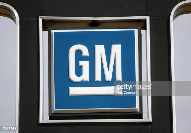 The General Motors emblem is displayed on a sign at the El Dorado Chevrolet dealership January 23 2008 in McKinney Texas General Motors lost its spot...