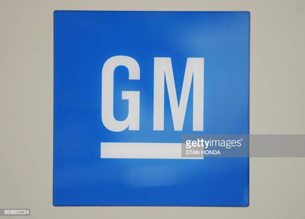 The General Motors logo is displayed at the New York International Auto Show April 8 2009 in New York AFP PHOTO/Stan Honda