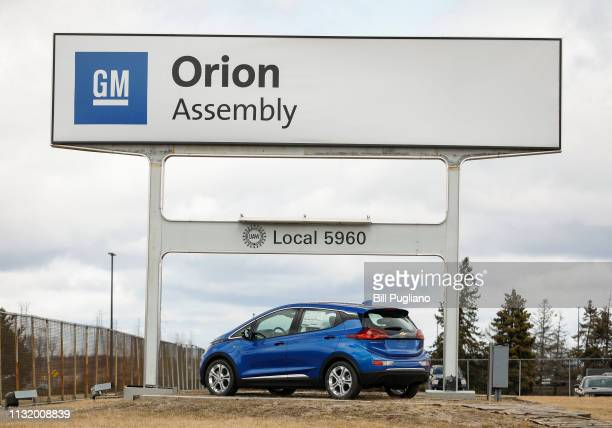 The General Motors Orion Assembly Plant sign is shown on March 22 2019 in Lake Orion Michigan Today at the plant General Motors Chairman and CEO Mary...