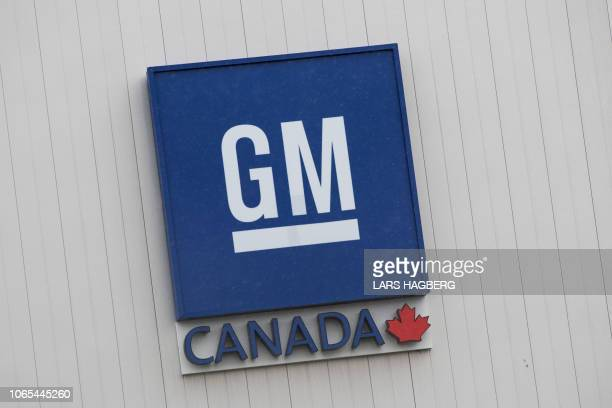 The General Motors plant sign is viewed in Oshawa Ontario on November 26 2018 General Motors is to announce on Monday the closure of a factory in...