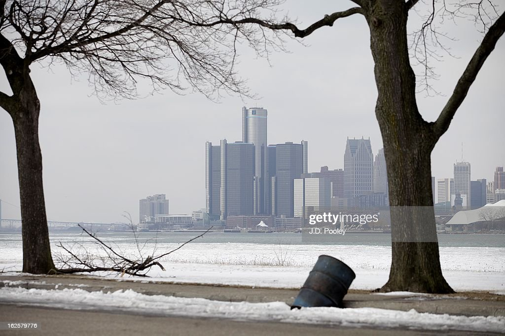 The General Motors (GM) world headquarters is seen on February 24, 2013 in Detroit, Michigan. The city of Detroit has faced serious economic challenges in the past decade, with a shrinking population and tax base while trying to maintain essential services. A financial review team issued a finding on February 19 identifying the city as being under a 'financial emergency.' Michigan Gov. Rick Snyder has 30 days from the report's issuance to officially declare a financial emergency, which could result in the governor appointing an emergency financial manager to oversee Detroit's municipal government.
