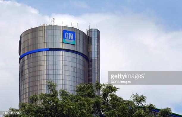 The General Motors world headquarters office is seen at Detroit's Renaissance Center.