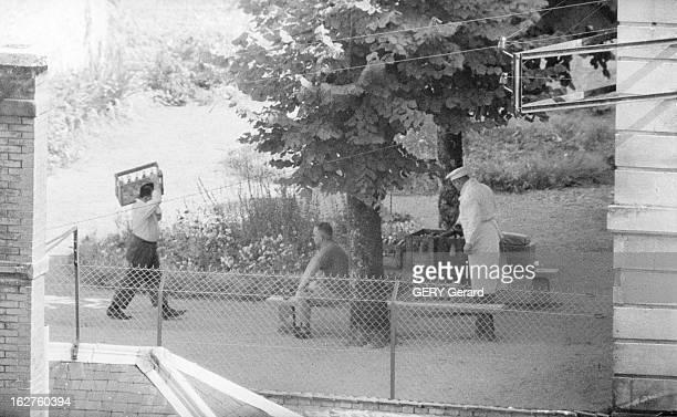 The General Of The Algiers Putsch At The Clairvaux Prison En France le 4 juillet 1961 Les exofficiers du coup d'Etat d'Alger du 23 avril 1961 purgent...