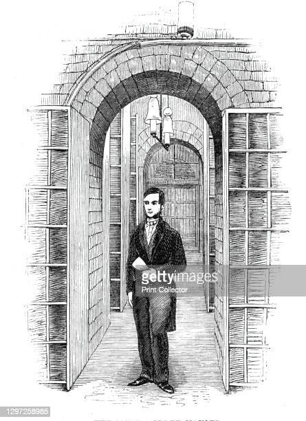The General Post-Office; The Money-Order Vaults, 1844. Secure section of the main post office at St Martin's Le Grand in London: '...seventy-four...