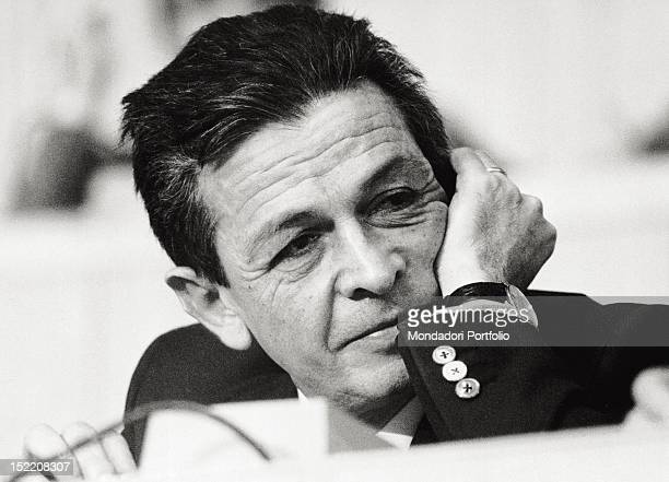 The General Secretary Enrico Berlinguer attending to the 15th national congress of the Italian Communist Party Rome April 1979
