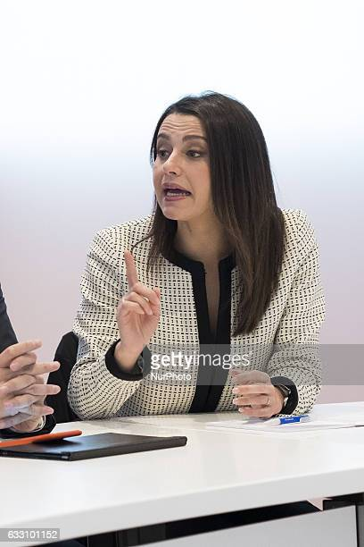 The General Secretary of Citizens Ines Arrimadas during a press conference that offered the headquarters of the party of Citizens in Madrid Spain on...