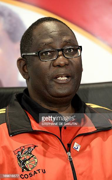 The general secretary of the Congress of South African Trade Unions Zwelinzima Vavi gives a press conference on May 29 2013 at COSATU headquarters in...
