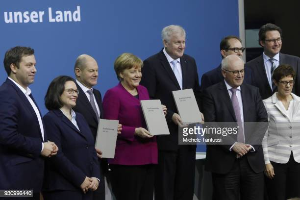 The General Secretary of the Social Democrats Lars Klingbeil The Parliamentary group leader Social Democrats Andrea Nahles Acting Chairman of the...