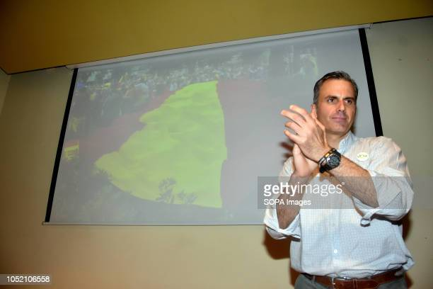 The general secretary of Vox Javier Ortega seen at the Sant VIcents del Horts thanking people during the event The ultraright Spanish political party...