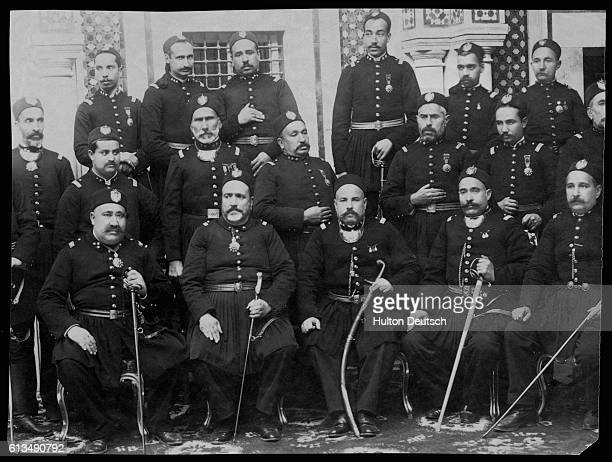 The general staff of Muhammed-as-Sadiq at the time of the Treaty of Bardo, 1881.