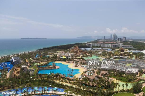 The general view of Aquaventure Waterpark of Atlantis Sanya on April 28 2018 in Sanya China