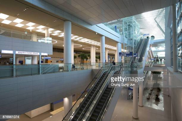 The general view of Incheon International Airport Terminal 2 on November 21, 2017 in Incheon, South Korea. The Gyeongggang Line will connect...
