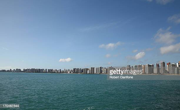 The general view of the Fortaleza coast line on June 13 2013 in Fortaleza Brazil Fortaleza is a host city for the 2013 FIFA Confederations Cup