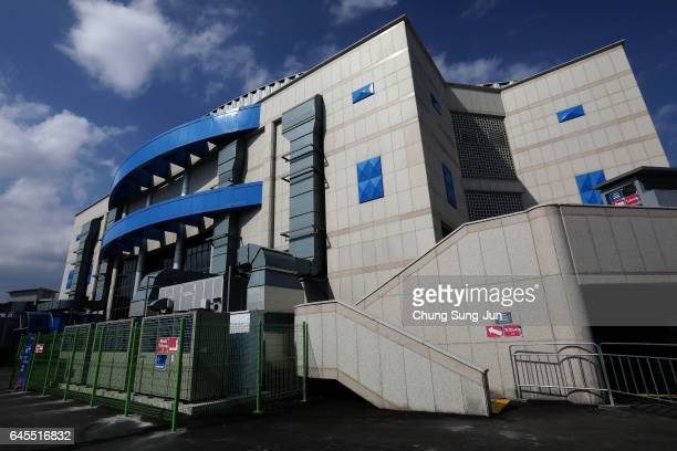 The general view of the Gangneung Curling Centre venue for Curling ahead of PyeongChang 2018 Winter Olympic Games on February 26 2017 in Gangneung...